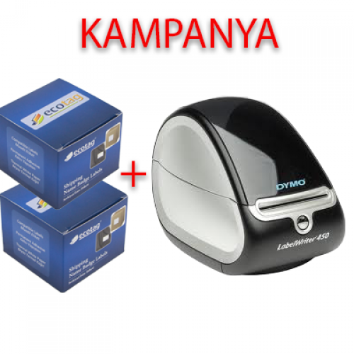 Dymo 450 Etiket Yazıcı ve Ecotag 101 x 54 Etiket