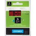 DYMO D1 Yedek Şerit, 24 mm x 7 mt, Kırmızı/Siyah (53717)