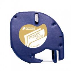 Ecotag LetraTAG Uyumlu Şerit Etiket Gold Renk