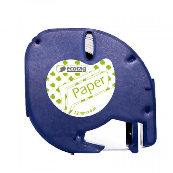 Ecotag LetraTAG Uyumlu Şerit Etiket Yonca Desen Yeşil
