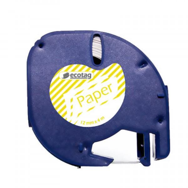 Ecotag LetraTAG Uyumlu Şerit Etiket Şerit Desen Sarı